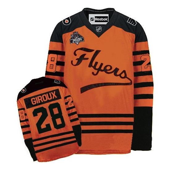 Claude Giroux Philadelphia Flyers Authentic 2012 Winter Classic Reebok Jersey - Orange