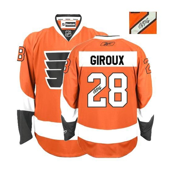 Claude Giroux Philadelphia Flyers Authentic Home Autographed Reebok Jersey - Orange