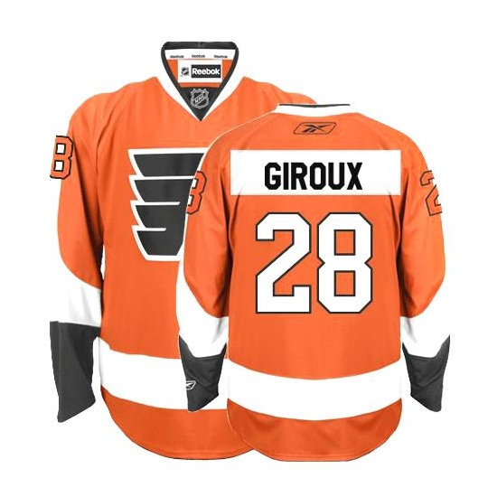 Claude Giroux Philadelphia Flyers Authentic Home Reebok Jersey - Orange
