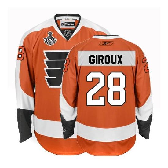 Claude Giroux Philadelphia Flyers Premier Home Stanley Cup Finals Reebok Jersey - Orange