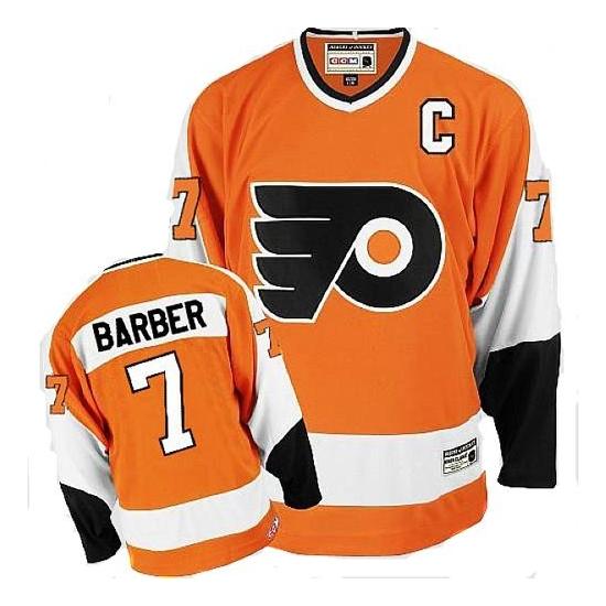 Bill Barber Philadelphia Flyers Authentic Throwback CCM Jersey - Orange