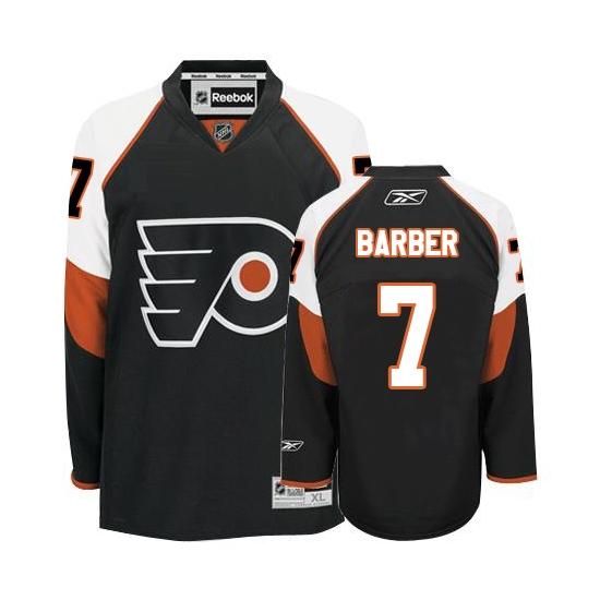 Bill Barber Philadelphia Flyers Authentic Third Reebok Jersey - Black