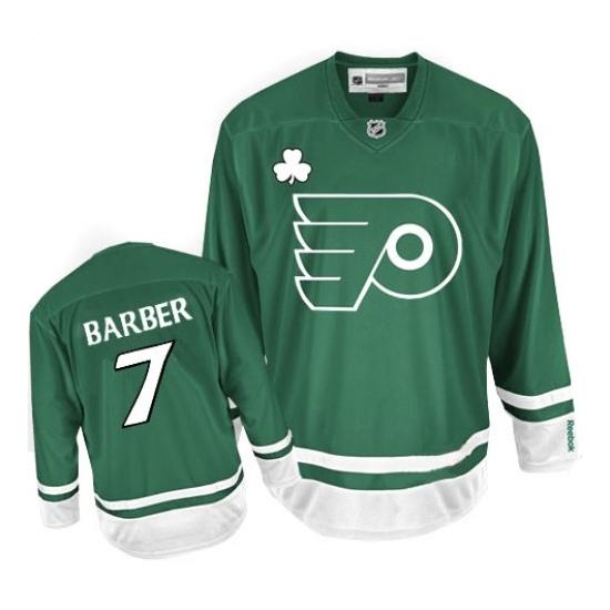 Bill Barber Philadelphia Flyers Premier St Patty's Day Reebok Jersey - Green
