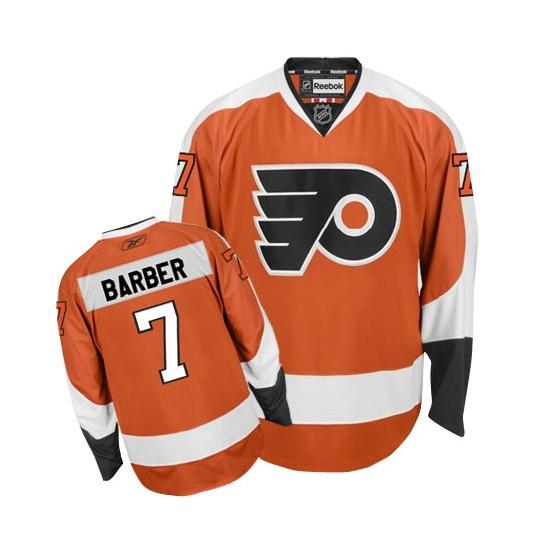 Bill Barber Philadelphia Flyers Authentic Home Reebok Jersey - Orange