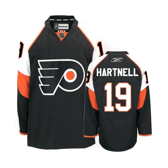 Scott Hartnell Philadelphia Flyers Authentic Third Reebok Jersey - Black