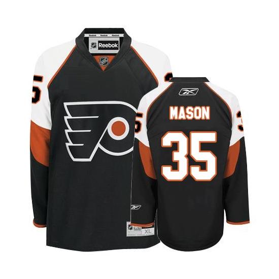 Steve Mason Philadelphia Flyers Youth Premier Third Reebok Jersey - Black
