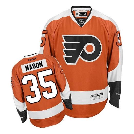 Steve Mason Philadelphia Flyers Youth Premier Home Reebok Jersey - Orange