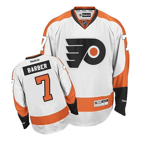 Bill Barber Philadelphia Flyers Authentic Away Reebok Jersey - White