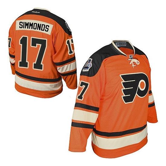Wayne Simmonds Philadelphia Flyers Premier Official Winter Classic Reebok Jersey - Orange