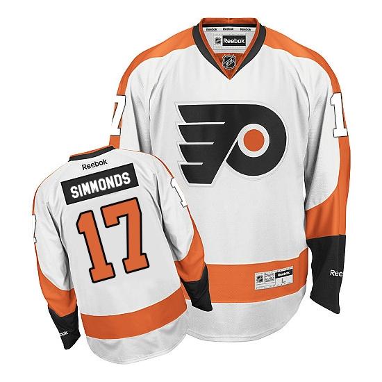 Wayne Simmonds Philadelphia Flyers Premier Away Reebok Jersey - White