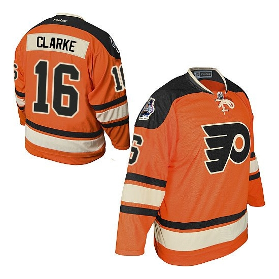 Bobby Clarke Philadelphia Flyers Authentic Official Winter Classic Reebok Jersey - Orange