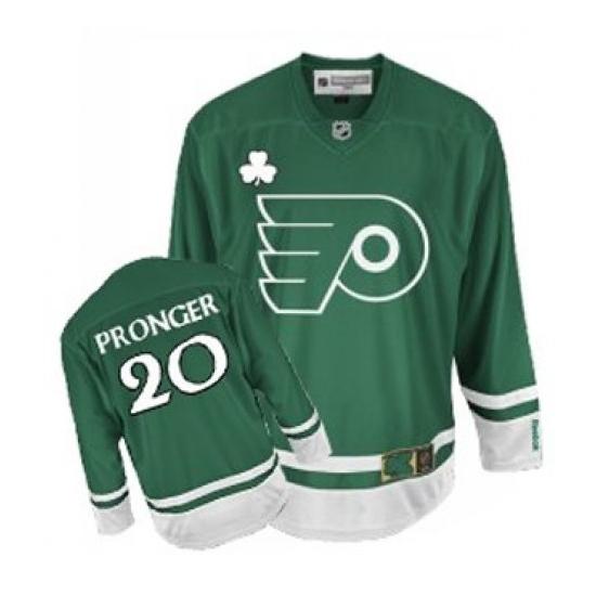 Chris Pronger Philadelphia Flyers Authentic St Patty's Day Reebok Jersey - Green
