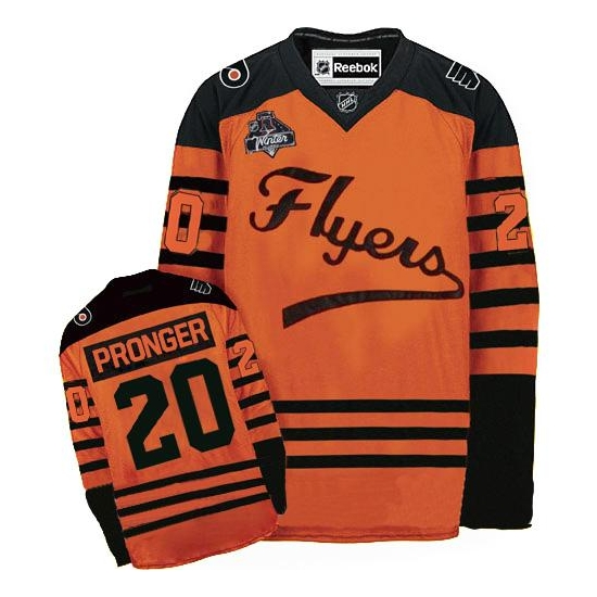 Chris Pronger Philadelphia Flyers Authentic 2012 Winter Classic Reebok Jersey - Orange