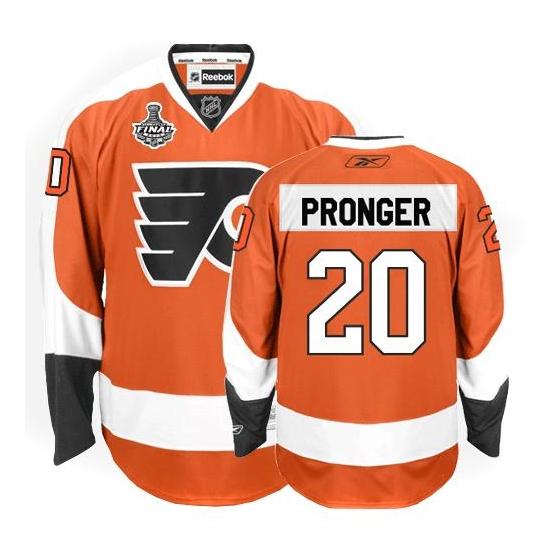 Chris Pronger Philadelphia Flyers Authentic Home Stanley Cup Finals Reebok Jersey - Orange