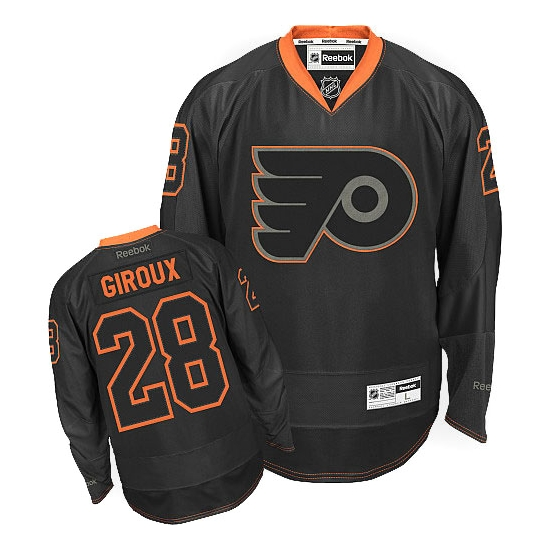 Claude Giroux Philadelphia Flyers Premier Reebok Jersey - Black Ice