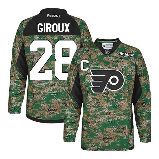 Claude Giroux Philadelphia Flyers Premier Veterans Day Practice Reebok Jersey - Camo