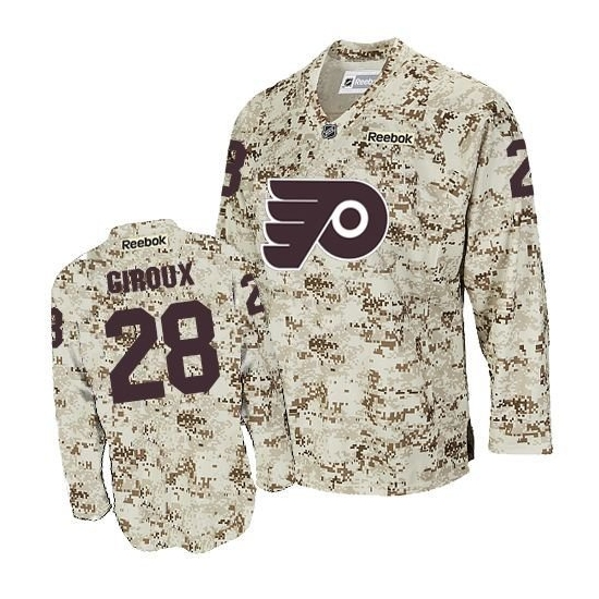 Claude Giroux Philadelphia Flyers Authentic Reebok Jersey - Camouflage