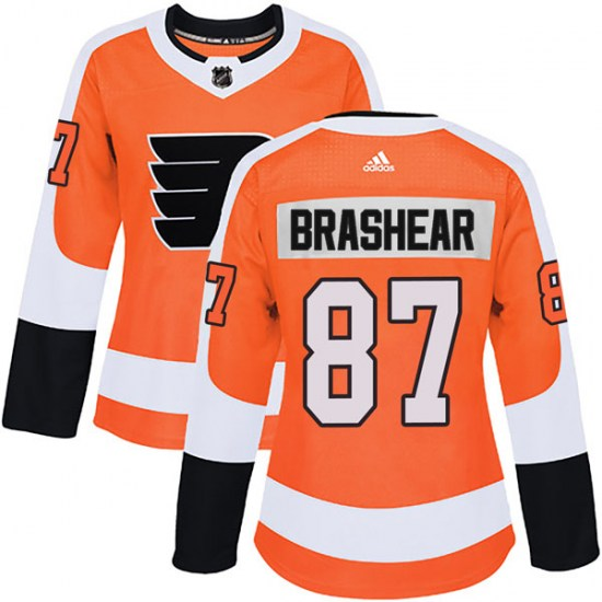Donald Brashear Philadelphia Flyers Women's Authentic Home Adidas Jersey - Orange