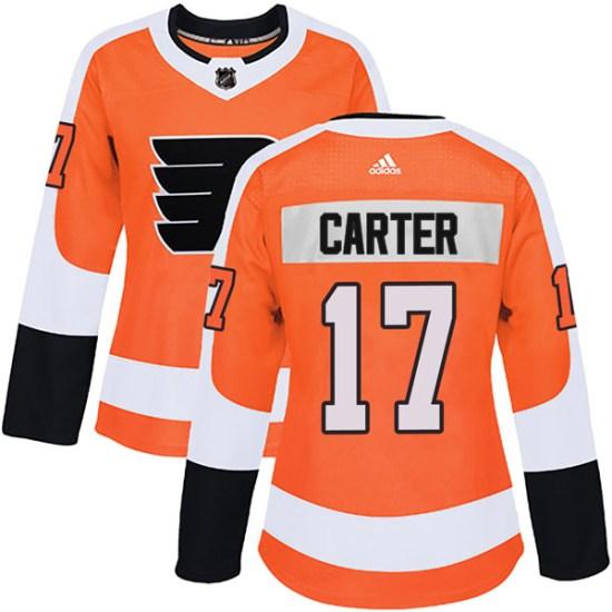 Jeff Carter Philadelphia Flyers Women's Authentic Home Adidas Jersey - Orange