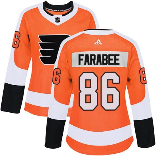 Joel Farabee Philadelphia Flyers Women's Authentic Home Adidas Jersey - Orange