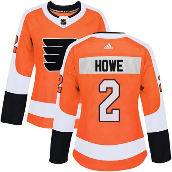 Mark Howe Philadelphia Flyers Women's Authentic Home Adidas Jersey - Orange