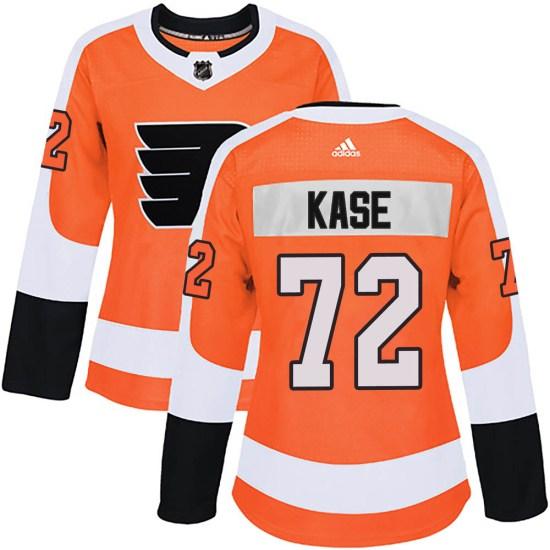 David Kase Philadelphia Flyers Women's Authentic Home Adidas Jersey - Orange