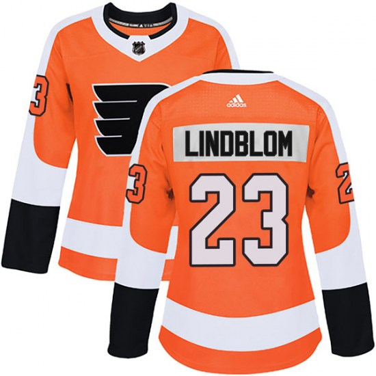 Oskar Lindblom Philadelphia Flyers Women's Authentic Home Adidas Jersey - Orange