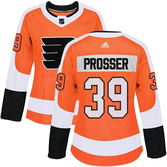 Nate Prosser Philadelphia Flyers Women's Authentic Home Adidas Jersey - Orange