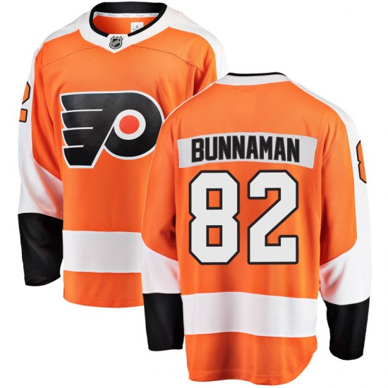 Connor Bunnaman Philadelphia Flyers Youth Breakaway Home Fanatics Branded Jersey - Orange