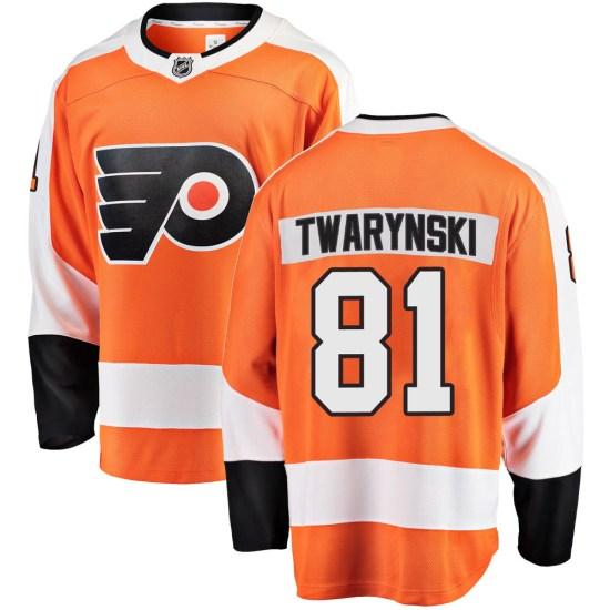 Carsen Twarynski Philadelphia Flyers Youth Breakaway Home Fanatics Branded Jersey - Orange
