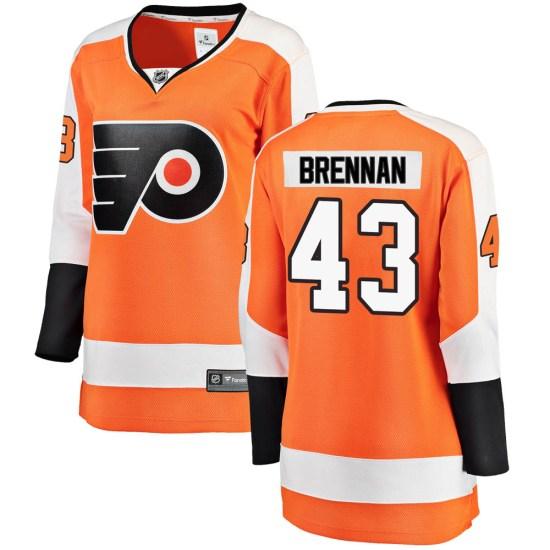 T.J. Brennan Philadelphia Flyers Women's Breakaway Home Fanatics Branded Jersey - Orange