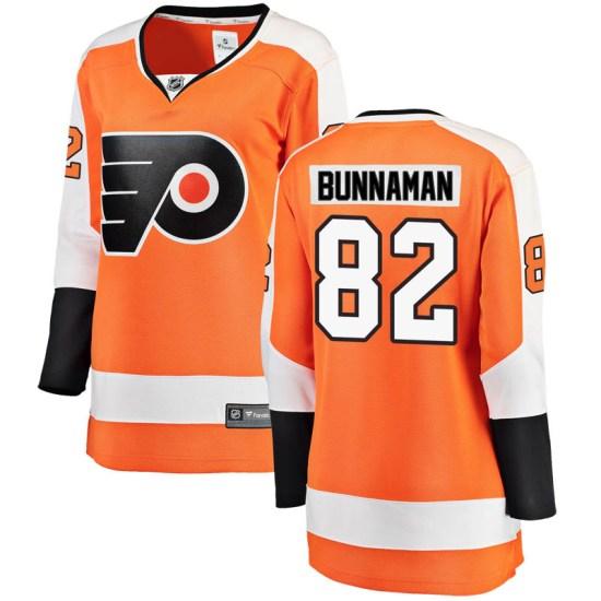 Connor Bunnaman Philadelphia Flyers Women's Breakaway Home Fanatics Branded Jersey - Orange