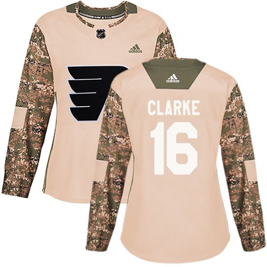 Bobby Clarke Philadelphia Flyers Women's Authentic Veterans Day Practice Adidas Jersey - Camo