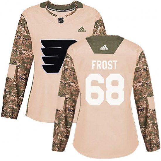 Morgan Frost Philadelphia Flyers Women's Authentic Veterans Day Practice Adidas Jersey - Camo