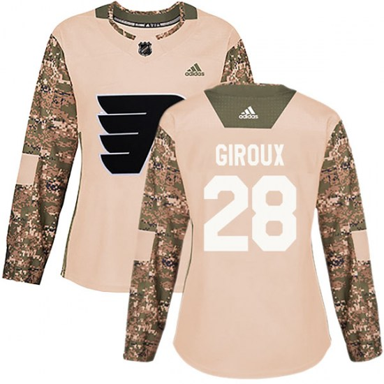 Claude Giroux Philadelphia Flyers Women's Authentic Veterans Day Practice Adidas Jersey - Camo