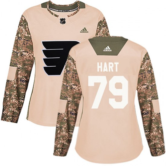 Carter Hart Philadelphia Flyers Women's Authentic Veterans Day Practice Adidas Jersey - Camo