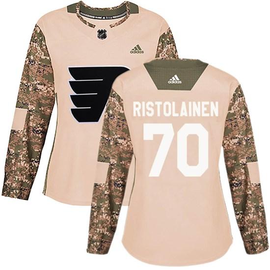 Rasmus Ristolainen Philadelphia Flyers Women's Authentic Veterans Day Practice Adidas Jersey - Camo