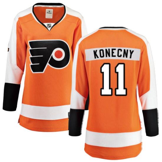 Travis Konecny Philadelphia Flyers Women's Breakaway Home Fanatics Branded Jersey - Orange