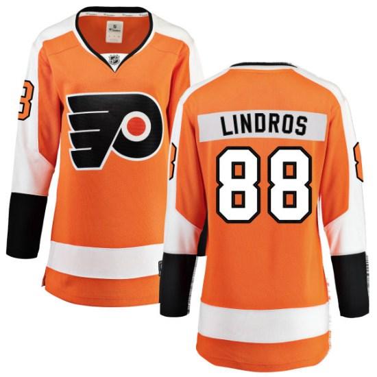 Eric Lindros Philadelphia Flyers Women's Breakaway Home Fanatics Branded Jersey - Orange