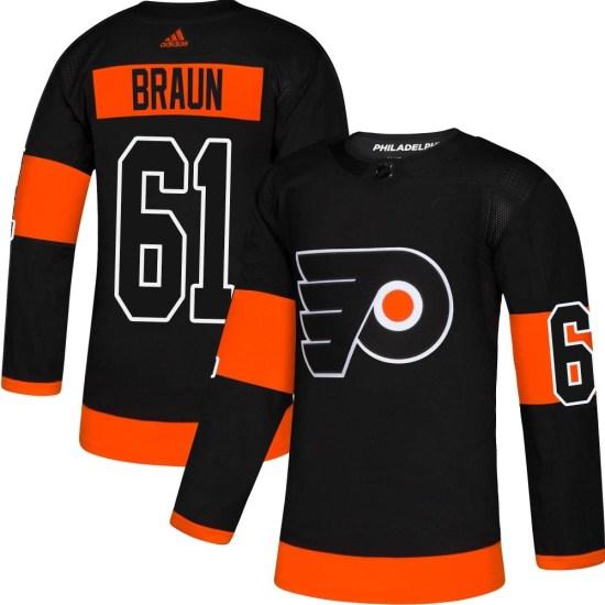 Justin Braun Philadelphia Flyers Youth Authentic Alternate Adidas Jersey - Black