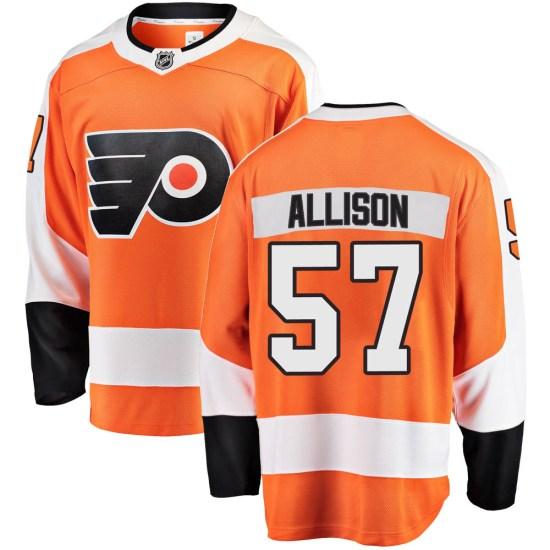 Wade Allison Philadelphia Flyers Breakaway Home Fanatics Branded Jersey - Orange