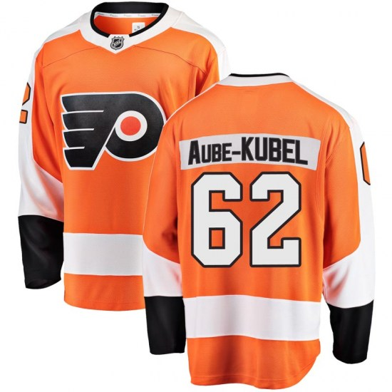 Nicolas Aube-Kubel Philadelphia Flyers Breakaway Home Fanatics Branded Jersey - Orange