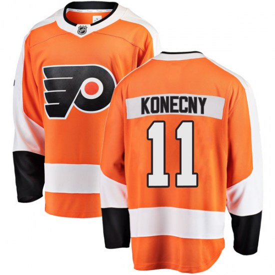 Travis Konecny Philadelphia Flyers Breakaway Home Fanatics Branded Jersey - Orange
