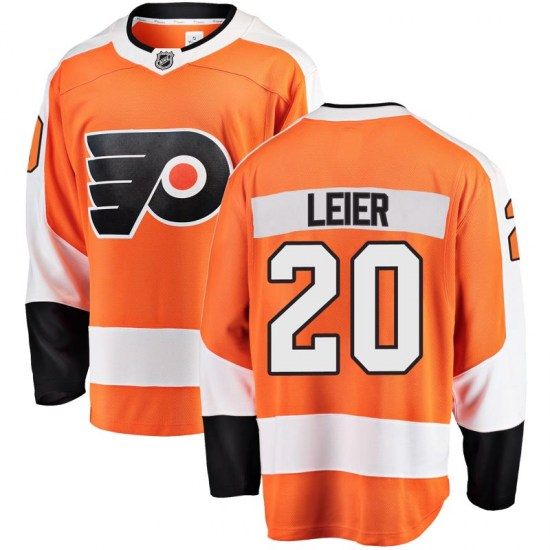Taylor Leier Philadelphia Flyers Breakaway Home Fanatics Branded Jersey - Orange