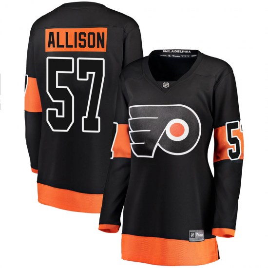 Wade Allison Philadelphia Flyers Women's Breakaway Alternate Fanatics Branded Jersey - Black