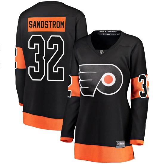 Felix Sandstrom Philadelphia Flyers Women's Breakaway Alternate Fanatics Branded Jersey - Black