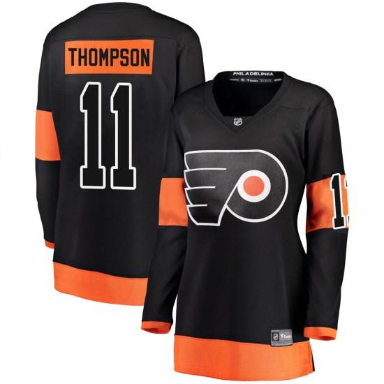Nate Thompson Philadelphia Flyers Women's Breakaway Alternate Fanatics Branded Jersey - Black