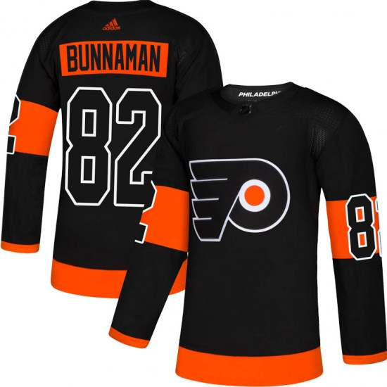 Connor Bunnaman Philadelphia Flyers Authentic Alternate Adidas Jersey - Black