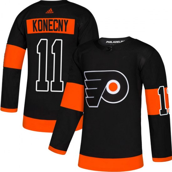Travis Konecny Philadelphia Flyers Authentic Alternate Adidas Jersey - Black