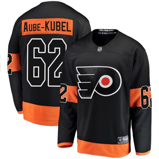 Nicolas Aube-Kubel Philadelphia Flyers Breakaway Alternate Fanatics Branded Jersey - Black